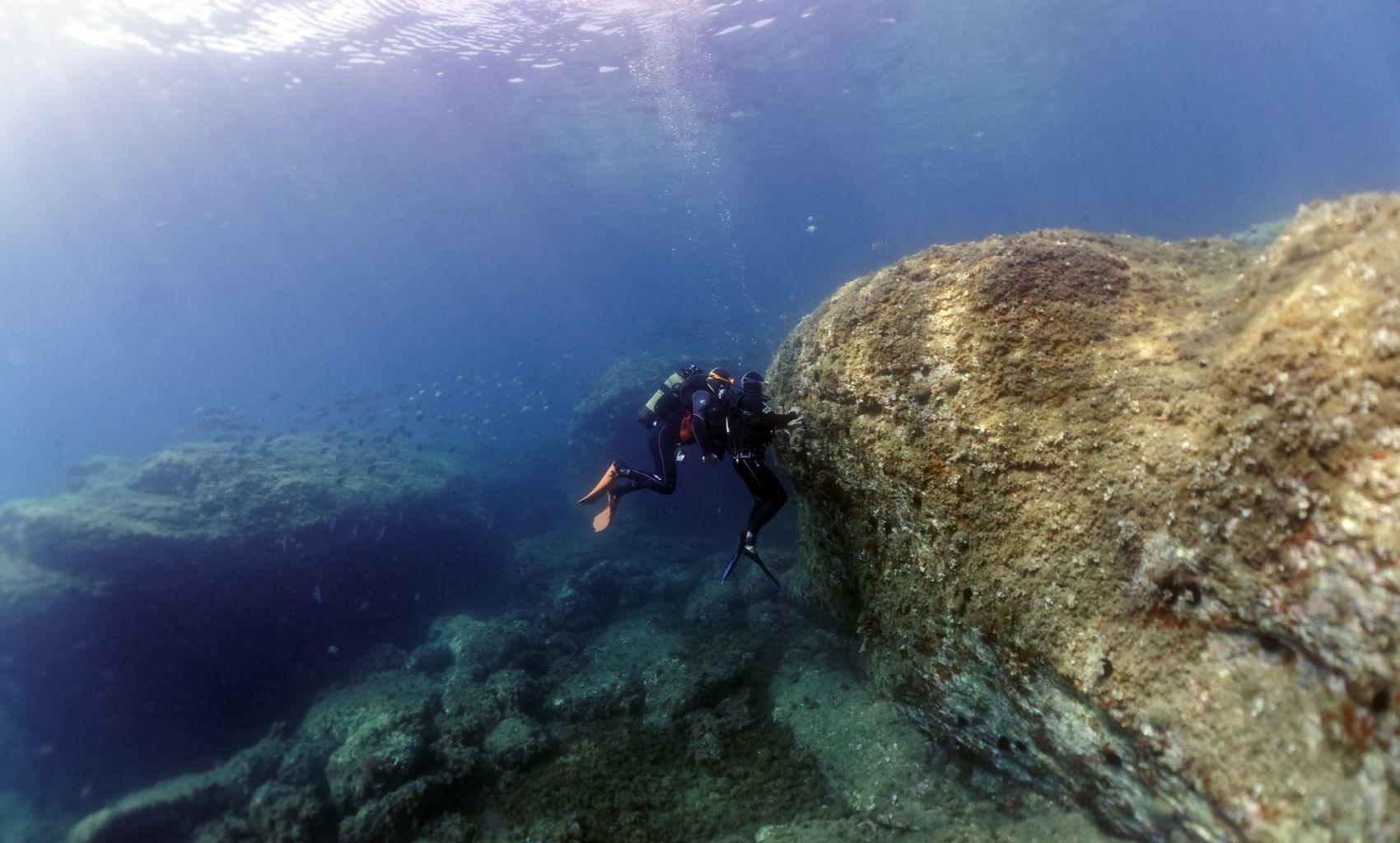 Baptême plongée dans la réserve marine